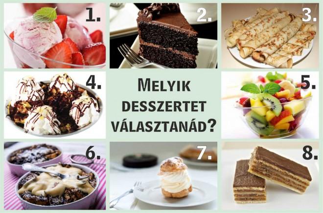Válassz egy desszertet! Rengeteg dolgot elárul rólad!