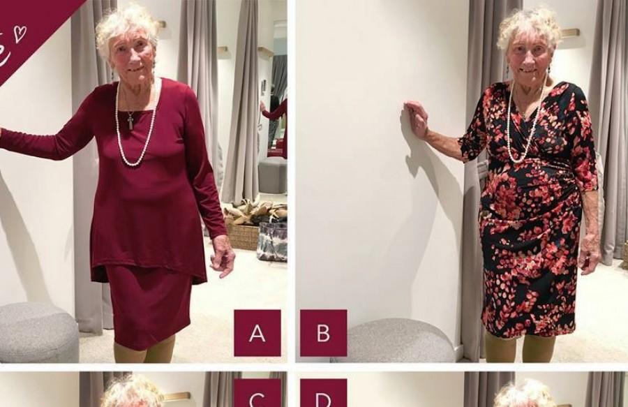 Mit viseljen a 93 éves hölgy az esküvőjén?