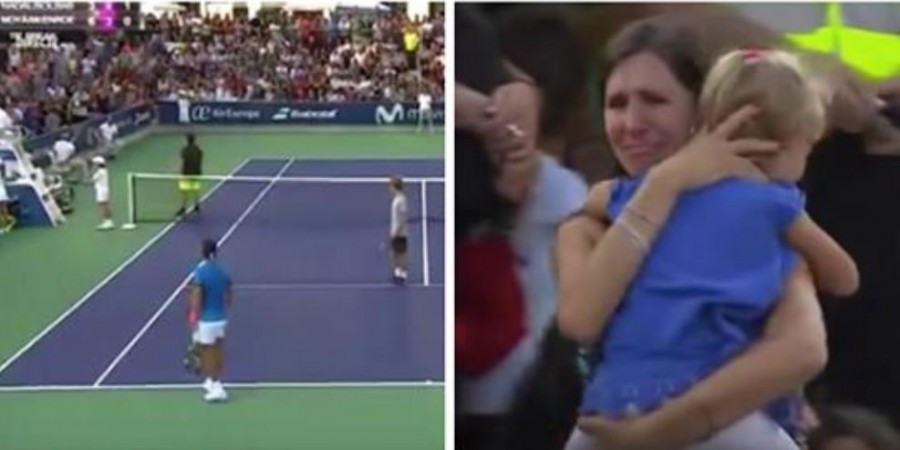 A kislány eltűnik a közönség soraiban – ekkor a teniszvilág legnagyobb sztárja mindenkit meglep