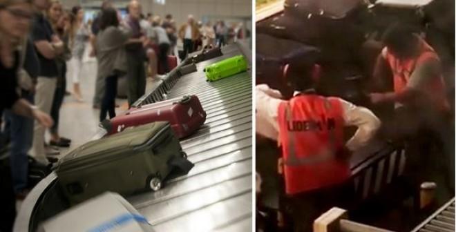 Levideózták, hogy lopnak a bőröndjeinkből a reptéri átvizsgálásnál!