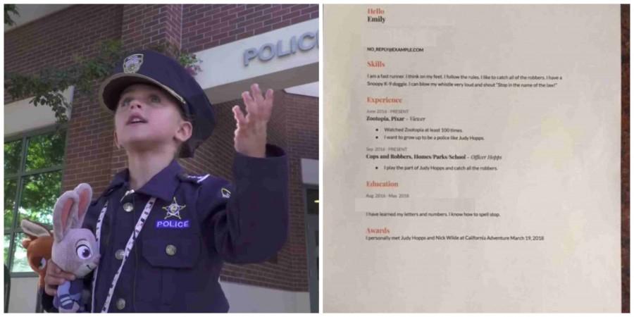 A 4 éves kisgyerek munkára jelentkezett a rendőrségnél