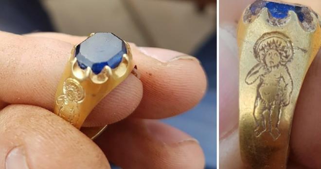 Az erdőben sétálva talált rá erre a páratlan értékű gyűrűre