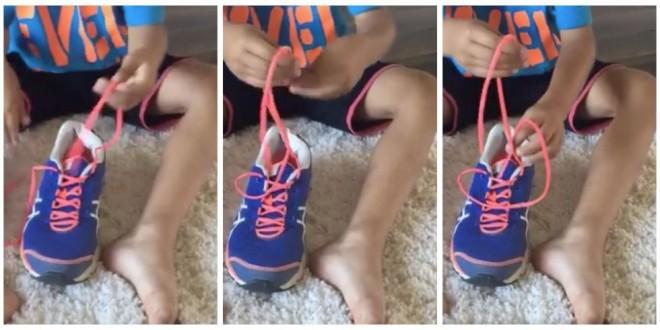 Minden gyerek kínlódik a cipőkötéssel! Mutasd meg neki ezt a módszert!