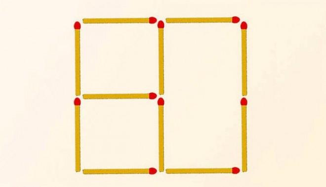 Egy kis logika - Mozdíts el 3 gyufát, hogy 2 négyzetet kapj!