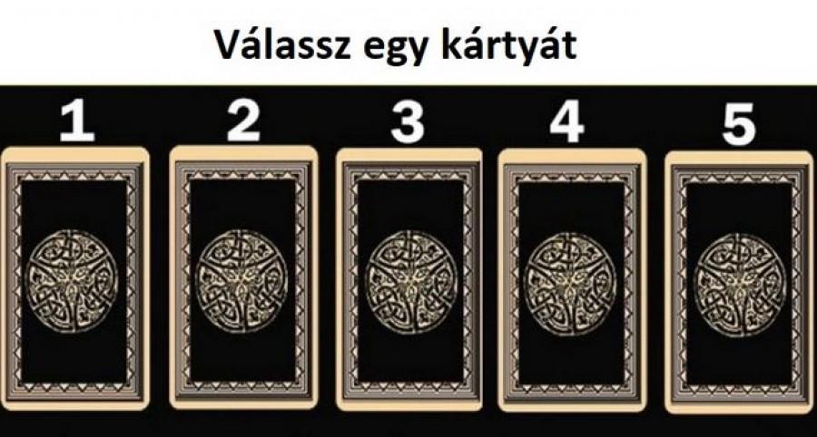 Válassz egy kártyát az ötből!