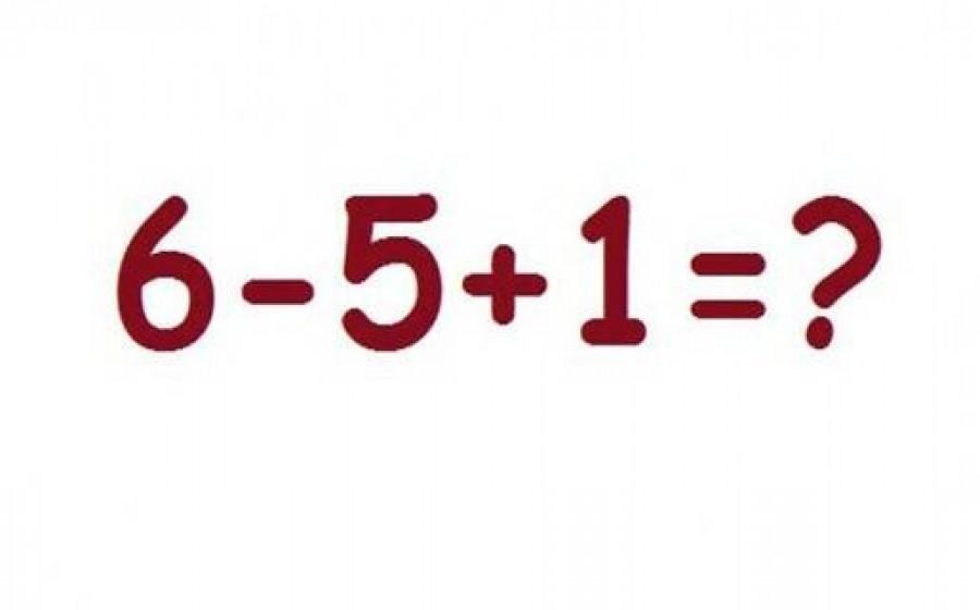6-5+1=? Egyszerű matematikai feladatnak tűnik elsőre, de...